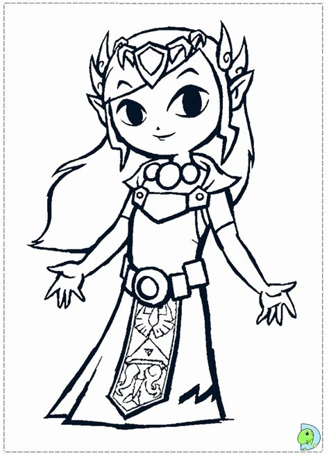 zelda coloring page coloring home
