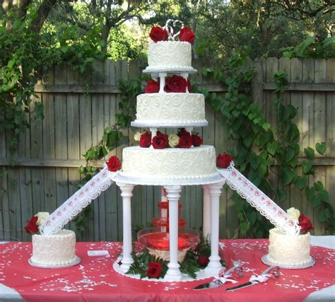 wedding cakes  fountains fountain wedding cake