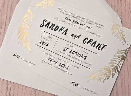 Fun Wedding Invitations Australia