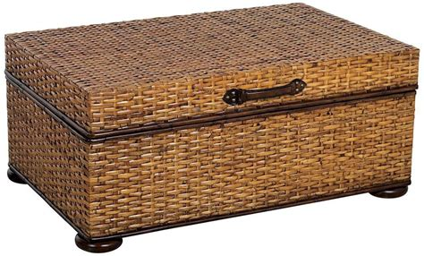 wicker trunk coffee table rattan trunk coffee table