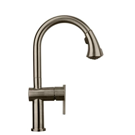 whitehaus kitchen faucet whitehaus collection waterhaus single handle pull down sprayer kitchen faucet in brushed