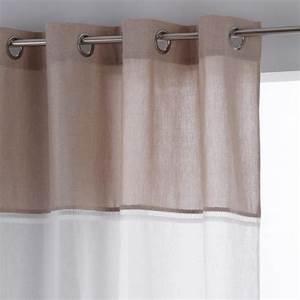 Rideau Voilage Lin : rideau voilage originel 140x240cm lin blanc ~ Teatrodelosmanantiales.com Idées de Décoration
