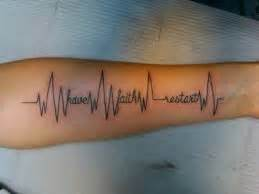 ekg tattoo   ideas  designs