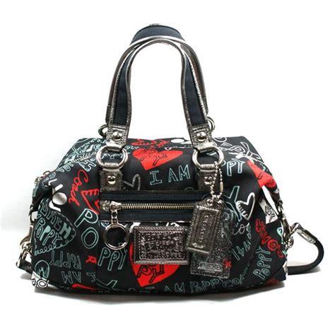 coach poppy graffiti lurex satchel bag  coach