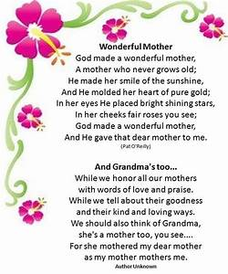 Mother's Day Poems - Short Poems for Mom on Mothers Day