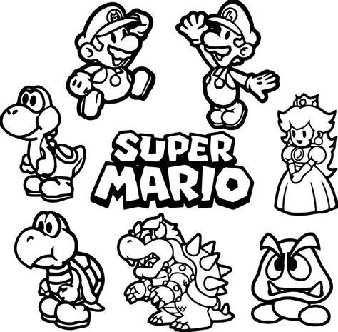 Kleurplaten Mario Bros by Mario Bros Kleurplaat Kleurplaat Vor Kinderen 2019