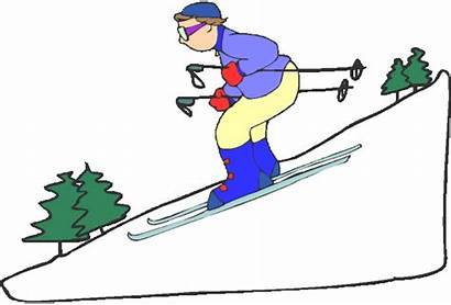 Ski Clipart Mountain Skiing Slope Clip Cliparts