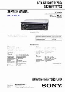 Sony Cdx-gt270s Service Manual