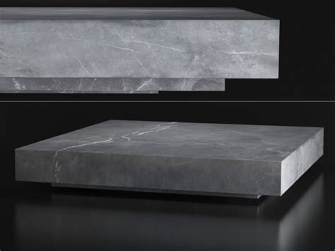 marble plinth square coffee table  model restoration hardware usa
