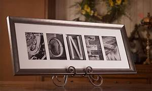 Custom alphabet photo art groupon goods for Custom letter art groupon