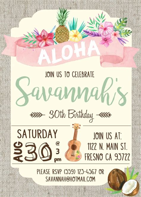 25 best ideas about luau party invitations on pinterest