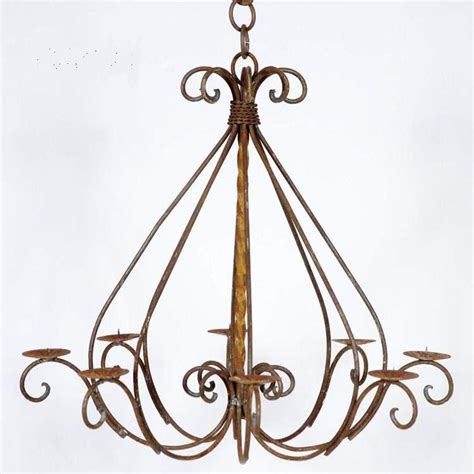 Wrought Iron Hanging Candle Chandelier by Wrought Iron Braided Candle Chandelier Outdoor Patio