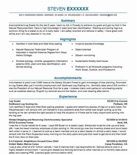logging resume exles resources and