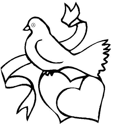 vogel auf herzen ausmalbild malvorlage liebe