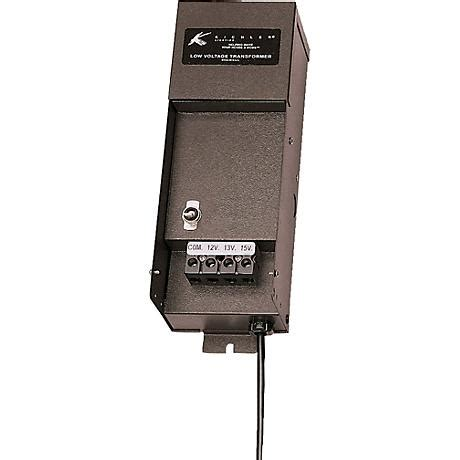black photocell 45 watt landscape transformer 2n754