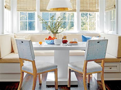kitchen banquette seating  trending   southern