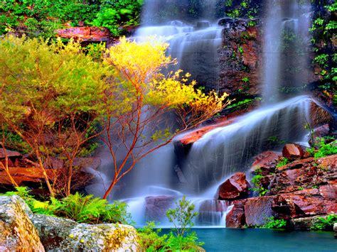 Abstract Best Colorful Waterfall Wallpapers