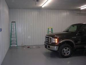 materials for garage ceiling metal vs 4x8 panels the With metal garage interior wall ideas