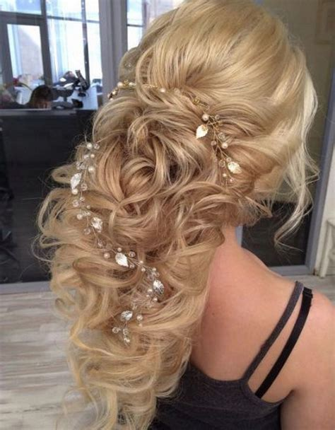 romantic wedding hairstyles  long hair