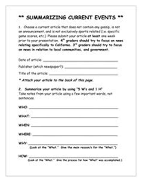 1000+ Ideas About Current Events Worksheet On Pinterest  Current Events, Teaching History And