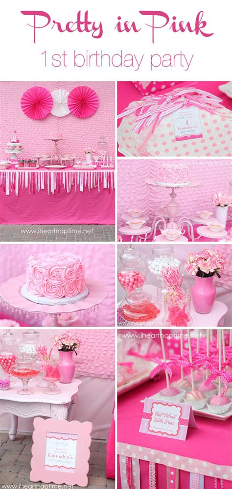 adorable pretty in pink 1st birthday party hostess with pretty in pink birthday party i heart nap time