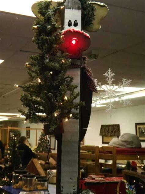 rustic reindeer wood craft christmas crafts pinterest