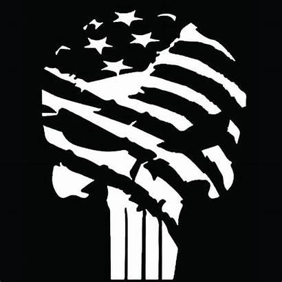 Punisher Skull Flag Vinyl Decal Premium Cricut
