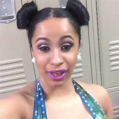 cardi b without her wig soooooo we got a new queen of ratchetness and her name is
