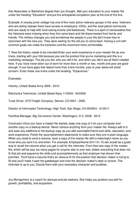 Veteran Resume Help by Veteran Resume Help 187 Personal Statement For Mental Health