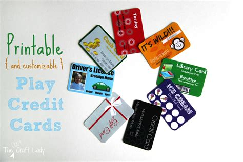 If you have any questions or need help, feel free to contact our support team. Printable (and Customizable) Play Credit Cards - The Crazy Craft Lady