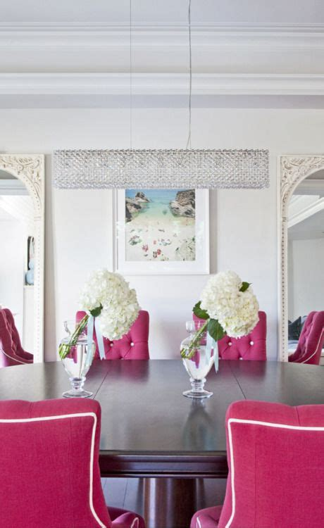 pink dining room chairs for the home