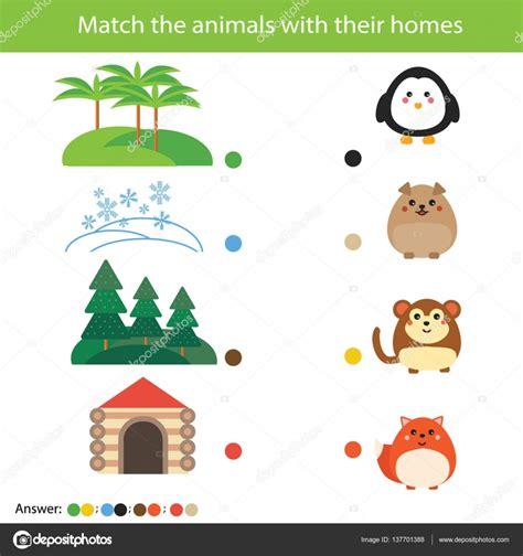 overeenkomende kinderen onderwijs spel wedstrijd dieren