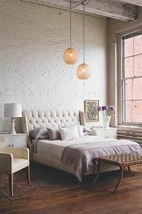 Mur Brique Blanc : mur de briques dans la chambre coucher pourquoi pas ~ Mglfilm.com Idées de Décoration