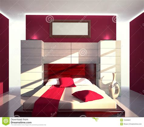 chambre coucher moderne chambre à coucher moderne image stock image 15599861