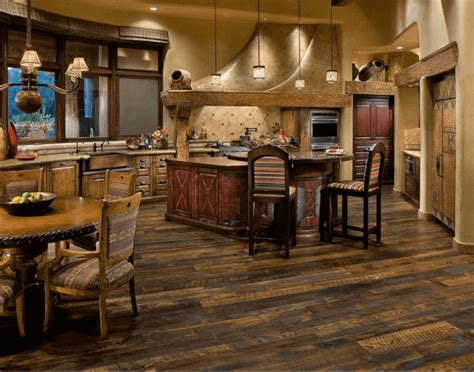 7 Beautiful Kitchens With Antique Wood Flooring [pictures] Front To Back Split Level House Plans Kitchen Faucet Pull Down Brass Faucets Moen Assembly Mansion Layouts Stone Farmhouse Glacier Bay Out Open Floor For Homes