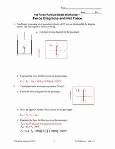 Answer Key Net Force Particle Model Worksheet 5