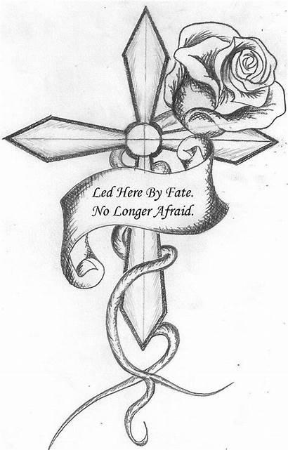 Drawings Cross Tattoos Drawing Cool Roses Crosses