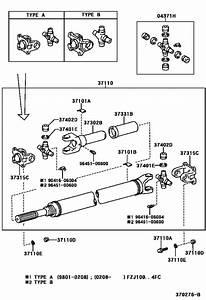 Propeller Shaft  U0026 Universal Joint For 2005