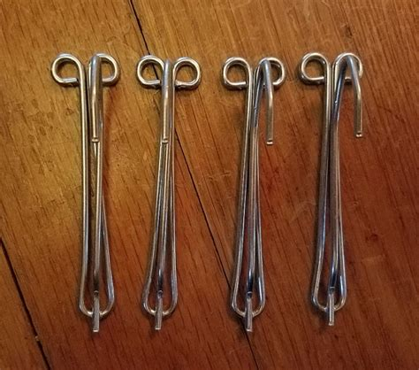 vintage lot of 96 curtain hooks for pinch pleated drapes