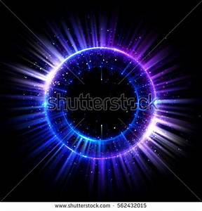 Abstract Neon Background Luminous Swirling Glowing Stock