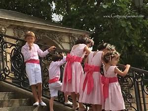 Tenue Garçon D Honneur Mariage : cort ge marine rose tendre et framboise cort ges d 39 t les cort ges de garance mariage en ~ Dallasstarsshop.com Idées de Décoration