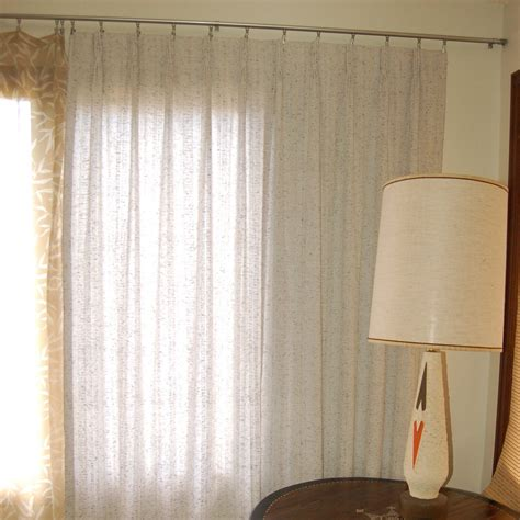 mid century modern curtains vintage mid century modern pleated curtains in greyish white