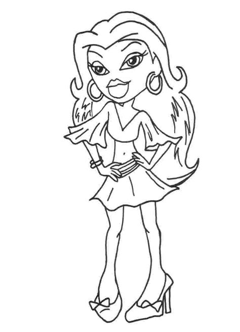 bratz christmas coloring pages coloring home