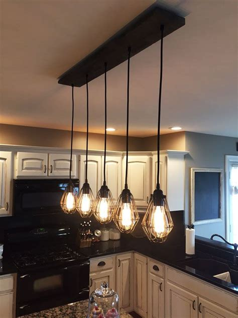 kitchen island chandeliers reclaimed wood chandelier 5 cage pendants pendant