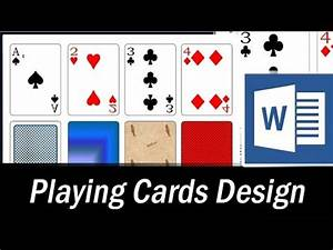 Ms Word Card Template How To Design Playing Cards In Ms Word Microsoft Word