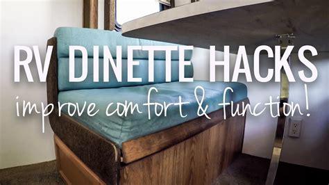 rv dinette hacks  improve comfort function rv