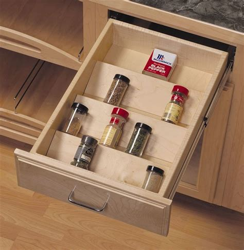 spice drawers kitchen cabinets yes so much better than jumbled in the cabinet or taking 5649