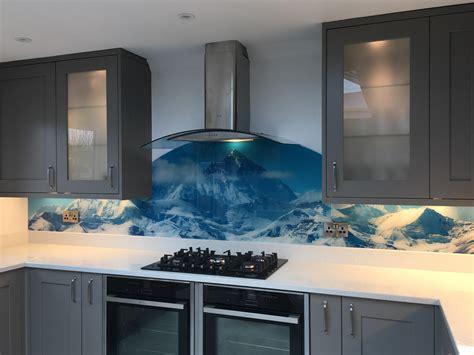 glass kitchen backsplash  unique    home