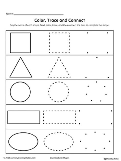 learning basic shapes color trace  connect