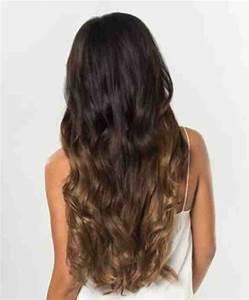 Ombré Hair Chatain : clips xxl ombre ch tain caramel ~ Dallasstarsshop.com Idées de Décoration